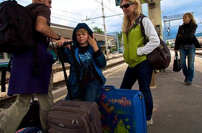A Roma bajamos en tren, esta la hizo Max.