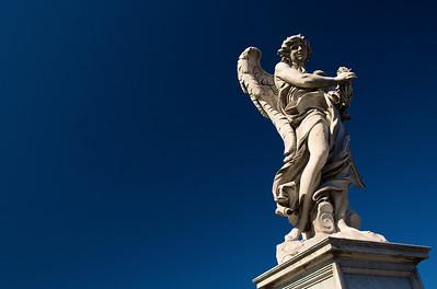 Ángel de Bernini, en el puente de Sant'Angelo.