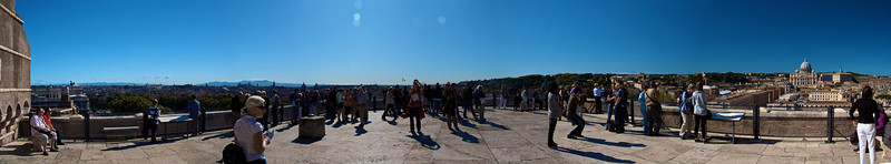 Panorámica de la terraza del Castel Sant'Angelo.