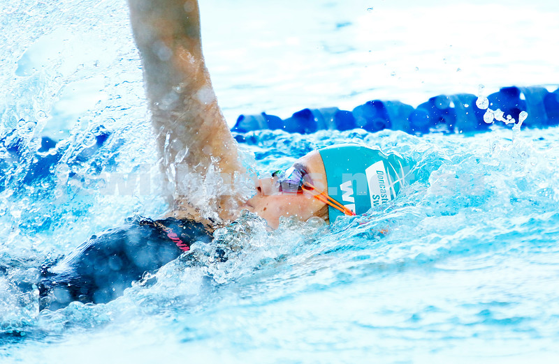 10-12-16. 2016 Victorian Aged Swimming Championships, MSAC. Ashley Weill during the final of the girls 15 yr old 200m backstroke. Photo: Peter Haskin