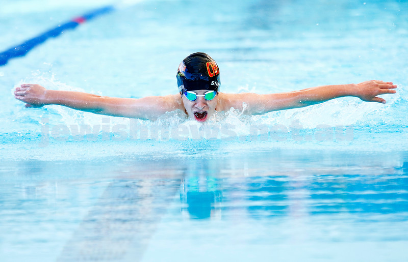 10-12-16. 2016 Victorian Aged Swimming Championships, MSAC.  Michael Gershenzon, boys 12 yr old 200m butterfly.  Photo: Peter Haskin