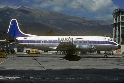 SAETA Vickers Viscount 785D HC-AYZ (msn 204) UIO (Christian Volpati Collection). Image: 928447.
