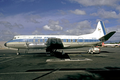 Aloha Airlines Viscount 754D N7410 (msn 242) HNL (Jacques Guillem Collection). Image: 921179.