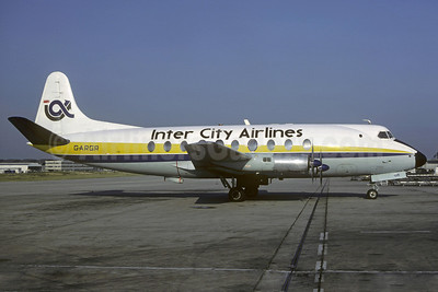 Inter City Airlines Vickers Viscount 708 G-ARGR (msn 14) CDG (Christian Volpati). Image: 911062.