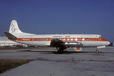Atlantic Gulf Airlines-Go Air Vickers Viscount 814 N145RA (msn 341) MIA (Bruce Drum). Image: 103211.