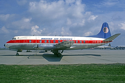 British Air Services - BKS Air Transport Vickers Viscount 806 G-AOYO (msn 264) RTM (Jacques Guillem Collection). Image: 948716.