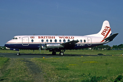 British World Airlines-BWA Vickers Viscount 806 G-APEY (msn 382) (BAF colors) SEN (Richard Vandervord). Image: 925250.