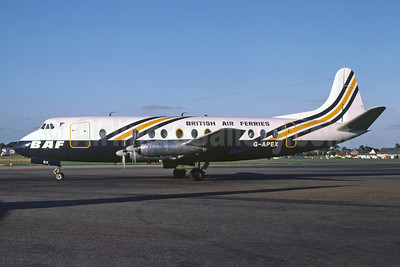British Air Ferries-BAF Vickers Viscount 806 G-APEX (msn 381) SEN (Richard Vandervord). Image: 919943.