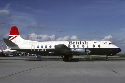 British Airways Vickers Viscount 806 G-AOYM (msn 262) CDG (Christian Volpati). Image: 905348.