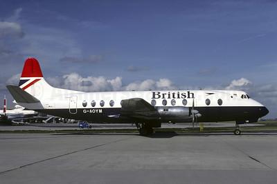 British Airways Vickers Viscount 806 G-AOYM (msn 262) CDG (Christian Volpati). Image: 905348.