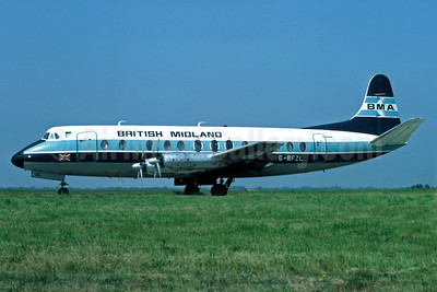 British Midland Airways-BMA Vickers Viscount 816 G-BFZL (msn 435)(Richard Vandervord). Image: 906465.