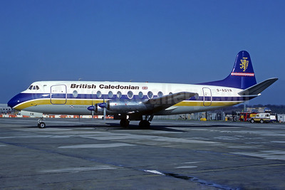 British Caledonian Airways (British Air Ferries) Vickers Viscount 806 G-AOYR (msn 266) LGW (Christian Volpati Collection). Image: 934081.