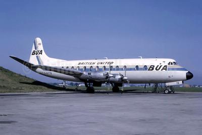 BUA - British United Airways Vickers Viscount 835 G-APTB (msn 424) LGW (Bruce Drum Collection). Image: 947082.