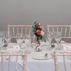 Orangery, Guyers House. Flowers and classic English Rose table setting created by Theodoras flower shop, Corsham.