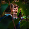 bride smile green leaves backlit plantation garden