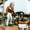 "Statue of the ""Greeter"" (Eiler Larsen, 1890-1975) at the Pottery Barn in Laguna Beach, 1965<br /> <br /> Likely the most famous, or infamous, homeless person ever known. His history is an incredible tale<br />  <a href=""http://en.wikipedia.org/wiki/Eiler_Larsen"">http://en.wikipedia.org/wiki/Eiler_Larsen</a><br /> (Shared from:  Jeff Powell)"