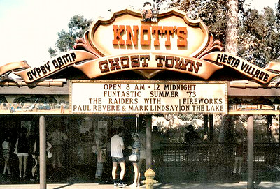 """Knott's Berry """"Scary"""" Farm (OMGoddess!!  Look at the billboard - Paul Revere & the Raiders!  Remember them??  What was your favorite PRR song??  Mine was """"Indian Nation"""" - http://youtu.be/zQ6RjP7MlXk - as it was a song with a meaning which - let's be honest - LOTS of our songs didn't have a lot of messages/consciousness!!  Am I right??)  I didn't care for this song but I HAD to share this - to remind us of our dance """"style"""" & clothes """"style""""!! - http://youtu.be/1lohb-4Gc-I (Shared from:  Jeff Powell)"""