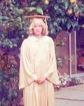 Graduation gown (& BIG LEMONS on the trees in Orange) - '75
