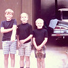 """Me (Vicki Skinner) in the first dress I bought myself with my babysitting money - age - 12 - with my brothers Michael, Billy & JB!!  Anyone remember the """"Blue Bomb"""" & rides to the beach (with the hole in the floorboard & dropping things along the way)!!!"""
