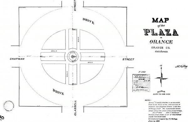 Survey Map of Orange Plaza, 1893<br /> (Shared from:  Jeff Powell)