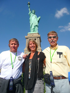 JB, Lois & Bob Skinner with Lady Liberty in the background!