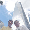 Bob & JB Skinner with the new World Trade Center tower that's rising at Ground Zero (due to open in 2014)