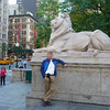 Bob Skinner standing outside the New York Public Library.