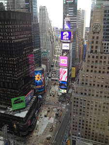 View from JB & Uncie/Bob Skinner's room at the Marriott Marquis Hotel Time Square .