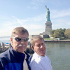Bob Skinner & JB Skinner with Lady Liberty in the background!