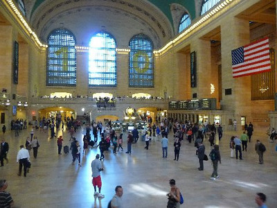 """We also stopped by Grand Central Station. It's big. Real big!""  (quote from Bob Skinner)"