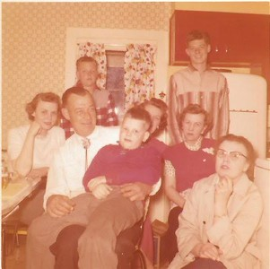 1958 maybe. And not sure this was Christmas, but close enough. Lake Geneva, WI. Who are they? I know.