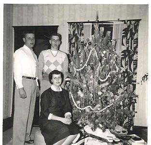 Daddy, Uncie & Auntie Ellen - Christmas 1953