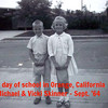 1st Day of 1st Grade in Orange, California - Vicki & Michael Skinner