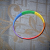 """Rainbow """"Pride"""" rubber bracelet.  <br /> REDUCED FOR QUICK SALE - $5 (was LOTS more)"""