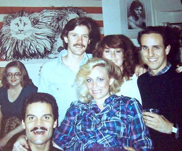 ??, Brian Vouglas, Vicki Skinner, ??, Nancy Derickson, Gary ___ - around 1981-1982, San Francisco party