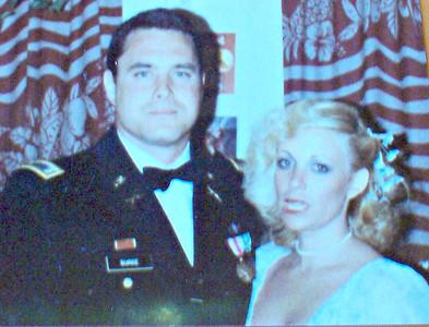 Vicki Skinner with John Burke going to the Navy Ball - San Francisco 1981 or 1982