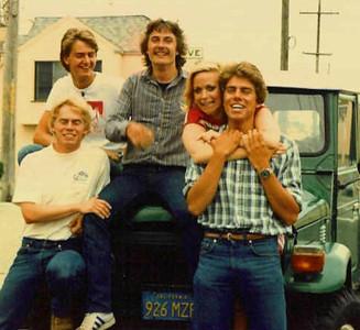 Per (Nordquist?)__, ____, Karlu Werner (middle), Vicki Skinner, & Swedish actor•comedian Mikael Tornving - San Francisco, California around 1982