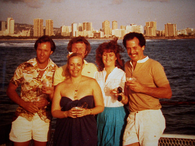 Vicki Skinner, THE ORIGINAL SARONG GODDESS with Nancy Derickson Peterson - Honolulu, Ouahu, Hawaii 1982