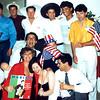 Brian Vouglas & Vicki Skinner, Perry Ramon, Andrea, Lu? - San Francisco days!  1981