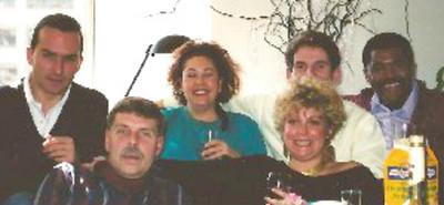 Luc, Uncie Bob Skinner, Lorraine Sanchez Barnard, Vicki Skinner, Didier, John Chevis - San Francisco