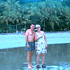 Manuel Antonio Beach - Marge and our FABULOUS tour guide Frank Chicas (Enjoying Costa Rica Tours)!!!!  Aug. '04