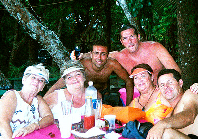 Manuel Antonio Beach - Vicki Skinner's first trip to Costa Rica with Marge, Chris, me (Vicki Skinner), our FABULOUS tour guide Frank Chicas (Enjoying Costa Rica Tours) & 2 hotties we met from Italia!!!! Aug. '04
