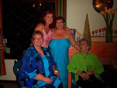 Christine Shea celebrates her b'day with Inger, Beulah Wiebe & me - Vicki Skinner!!!