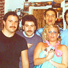 """1980-1981 - My 2nd party in my TINY San Francisco studio at 1163 Pine Street!!!  <br /> <br /> Left to Right:<br /> ??, Phil Gomez, Brian Vouglas, ME - Vicki Skinner (yup - that blonde is ME - the ORIGINAL """"Sarong Goddess""""!!), John???"""