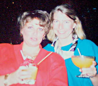 Me - Vicki Skinner with my boss at Foote, Cone & Belding Advertising Agency - Angela Moore Evans at our FAVORITE Friday Happy Hour - the Tonga Room at the Fairmont Hotel - just 2 1/2 blocks from me!!
