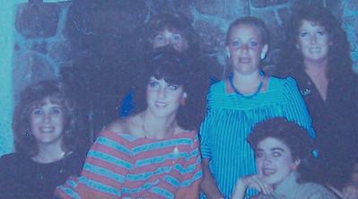 1982 with Laurie Corwin, Vilma Masi, ME - Vicki SKinner, & Wendy Ferrari