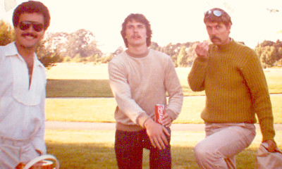 Albert Cisneros, Karlu Werner & Uncie Bob Robert Skinner at my 25th Birthday Party in Alameda