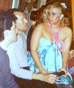 "Phil Gomez, Paul Schwartz & Me (yup - that blonde is ME - Vicki Skinner (yup - that blonde is ME - the ORIGINAL ""Sarong Goddess""!!)"