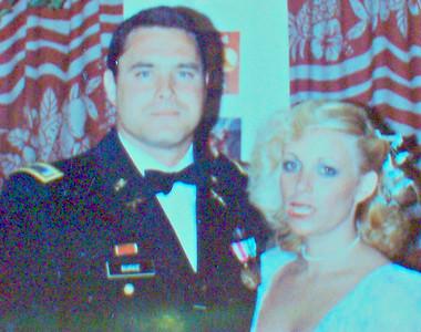 Boyfriend John Burke & ME - Vicki Skinner (yup - that blonde is ME) going to some military ball.
