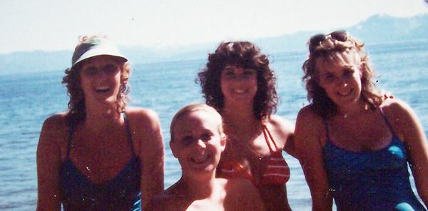 Lake Tahoe - 1982 with Laurie Corwin, ME - Vicki SKinner, Vilma Masi & ____??